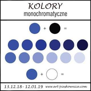 artpiaskownica wyzwanie monochromatyczne