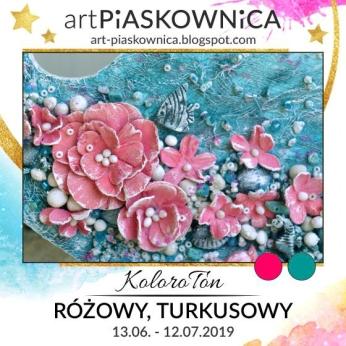 art Piaskownica 0 różowy, turkusowy
